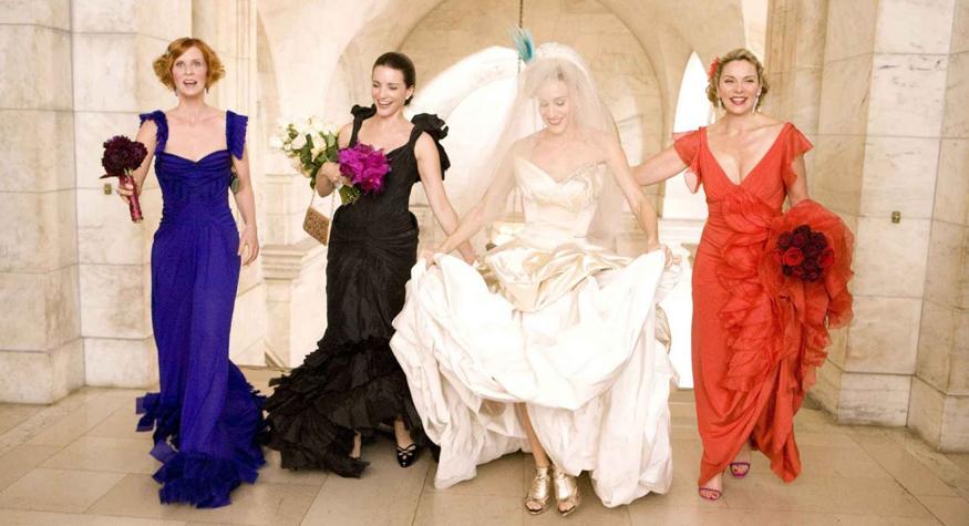 mörk kostym bröllop kvinna