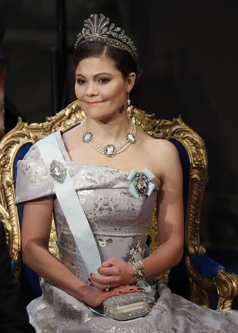 6849095 STOCKHOLM 2016-12-10. The Nobel Prize 2016. The Nobel Prize Awards ceremony today took place in the Stockholm Concert Hall, in the presence of the Swedish Royal Family. Picture shows: Crown Princess Victoria of Sweden. COPYRIGHT STELLA PICTURES