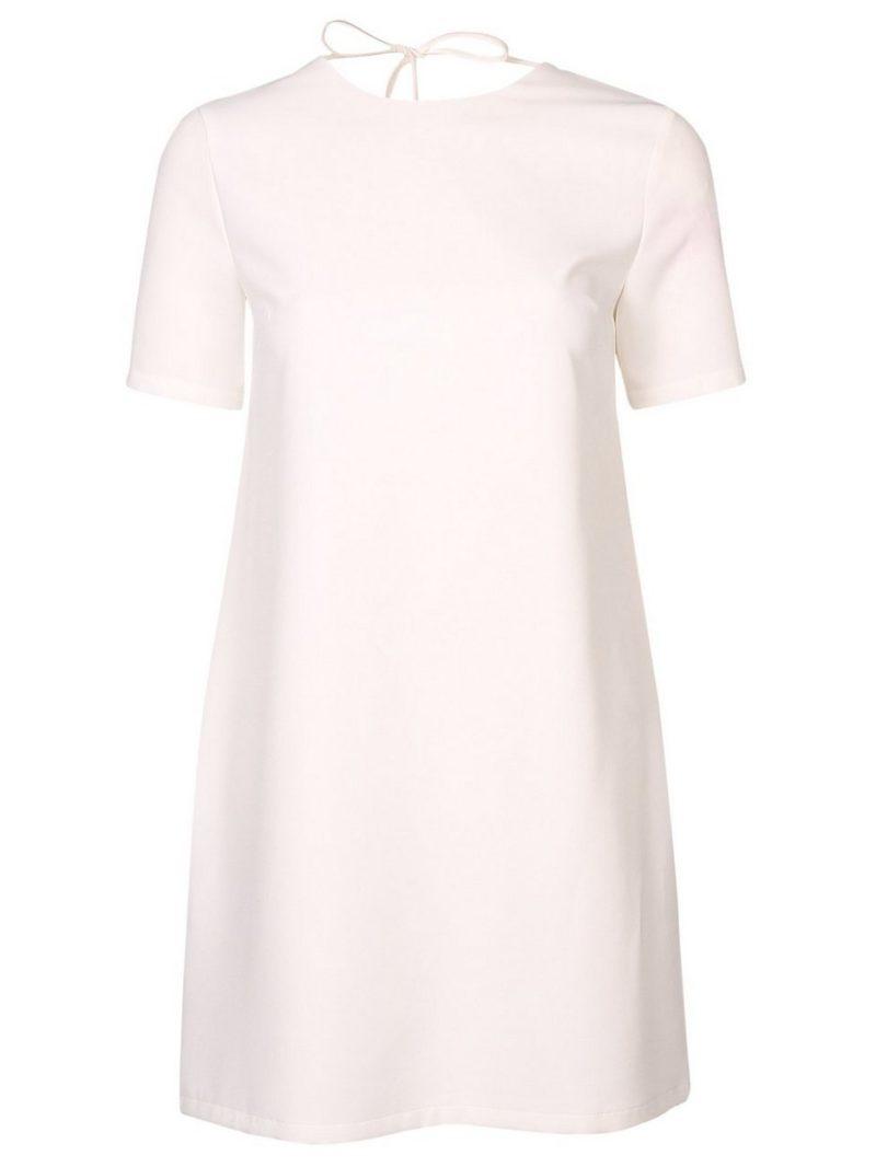 vit t shirt klänning