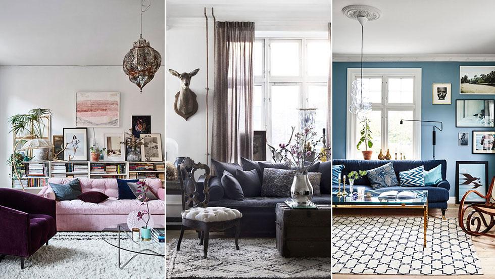 5 drömmiga vardagsrum –i 5 olika stilar