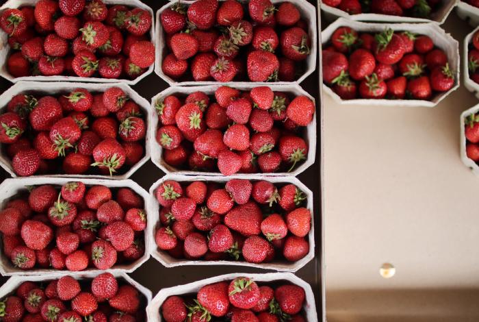 innehåller jordgubbar järn