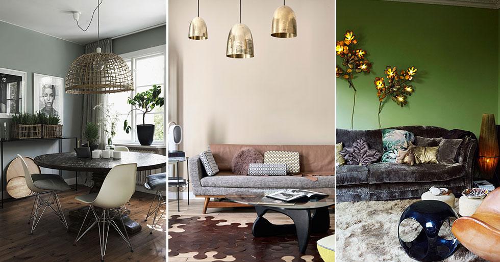 6 inspirerande rum – inredda med belysning i fokus | ELLE