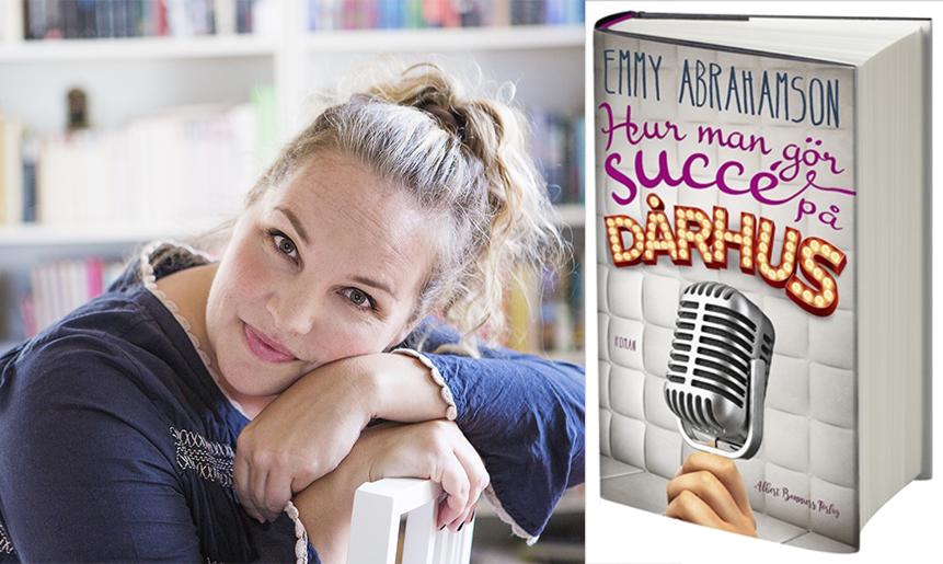 Emmy Abrahamsson med boken Hur man gör succé på ett dårhus.
