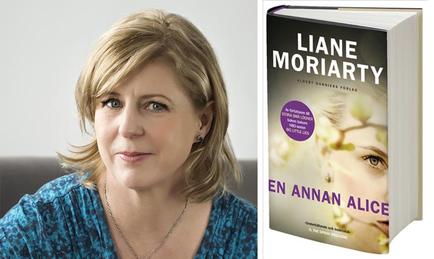 Liane Moriarty med boken En annan Alice.