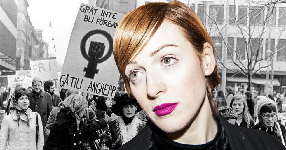 Cissi Wallin startar feministiska Grupp 9 tillsammans med Manuela Fredriksson.