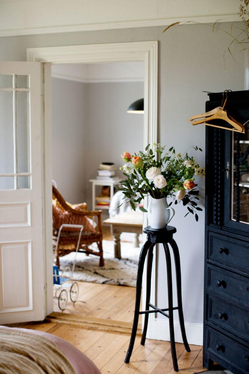 Elsa Billgrens sovrum i huset på Gotland.