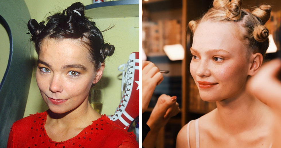 Björks knoppfrisyr intar Fashion Week Stockholm