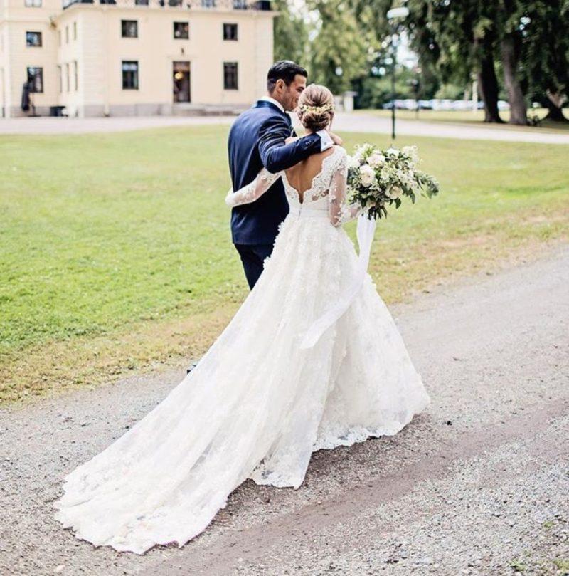 Kenza Zouitens brudklänning