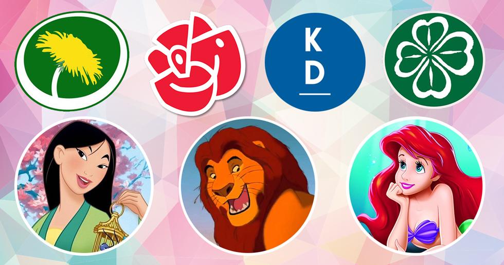 Vad skulle Disneykaraktärerna rösta på i riksdagsvalet?