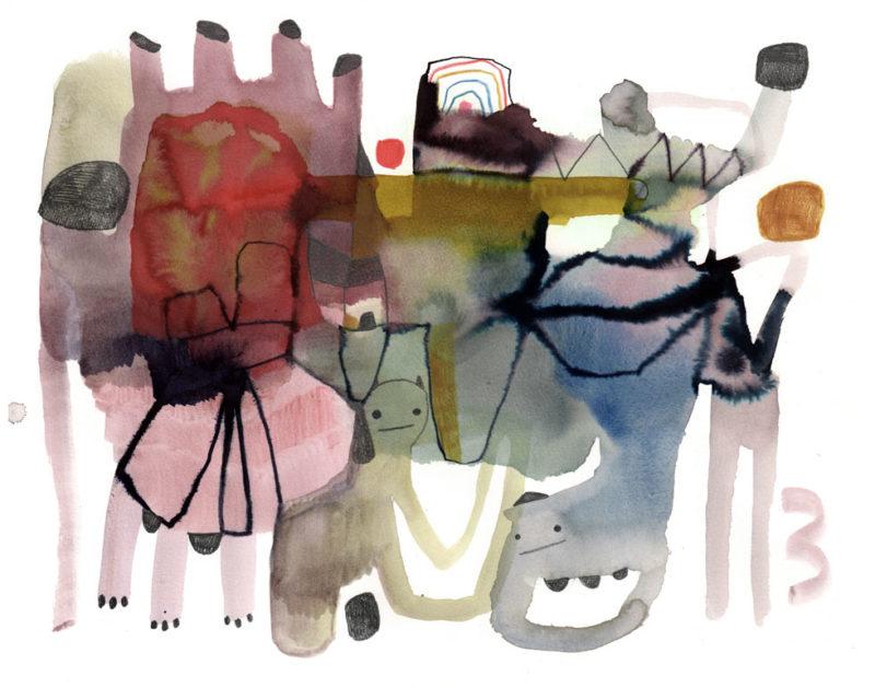 Akvarell av Emma Larsson.