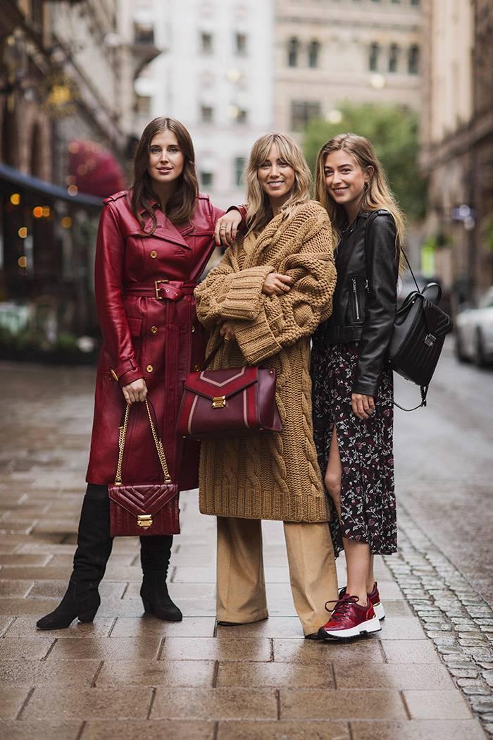 Influencerna Darja Barannik, Lisa Olsson och Emili Sindlev i det skandinaviska kampanj-samarbetet med Michael Kors.