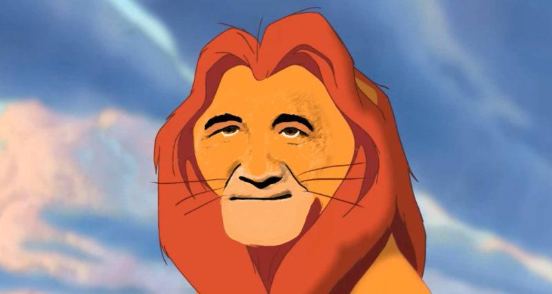 Mufasa i Lejonkungen som Stefan Löfven.