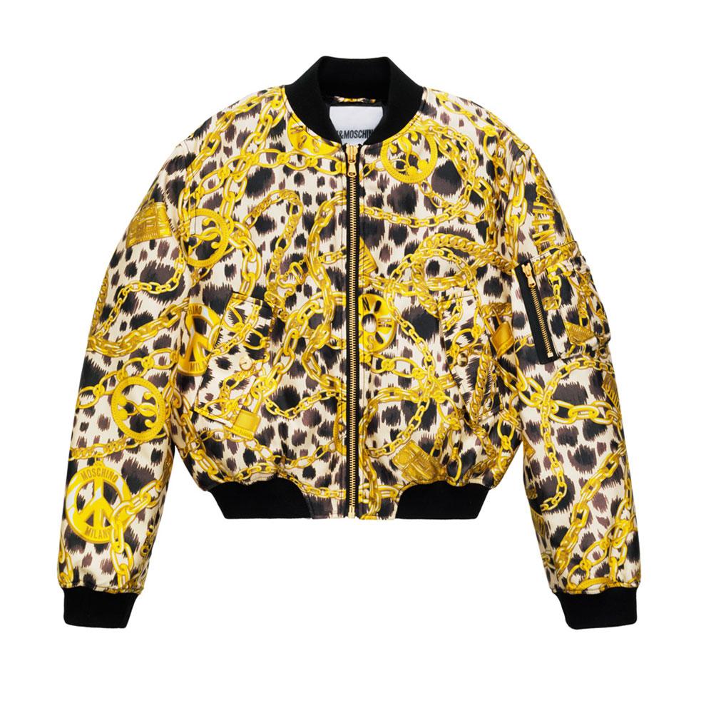 Jacka med leopardtyg H&M x Moschino
