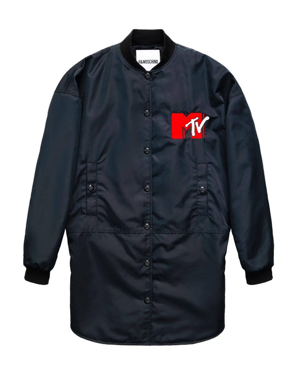 Svart jacka med MTV-motiv H&M x Moschino