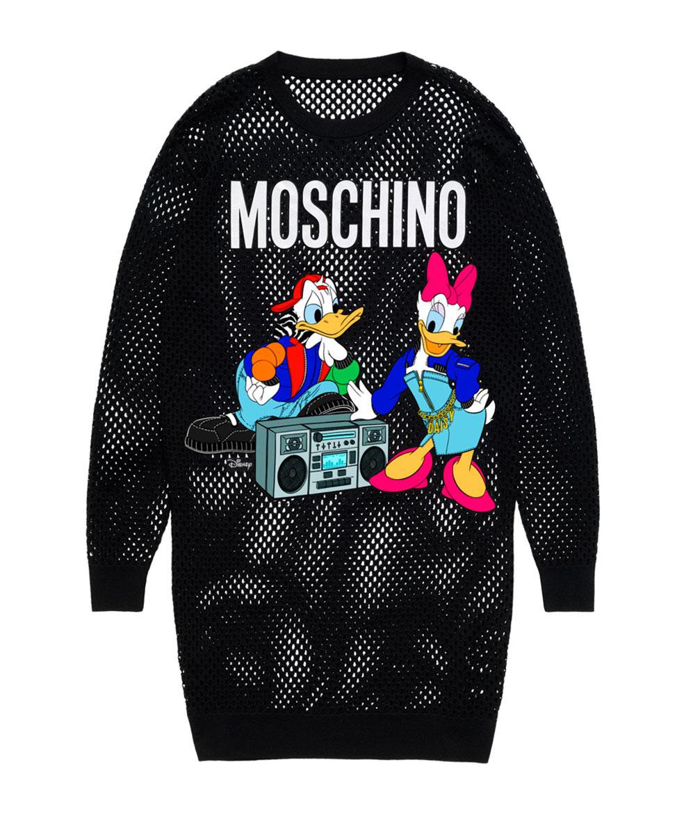 Svart tröja med Kalle och Kajsa Anka H&M x Moschino