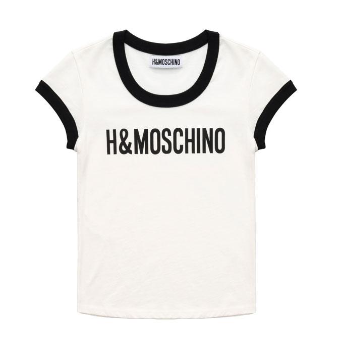 Vit t-shirt från H&M x Moschino