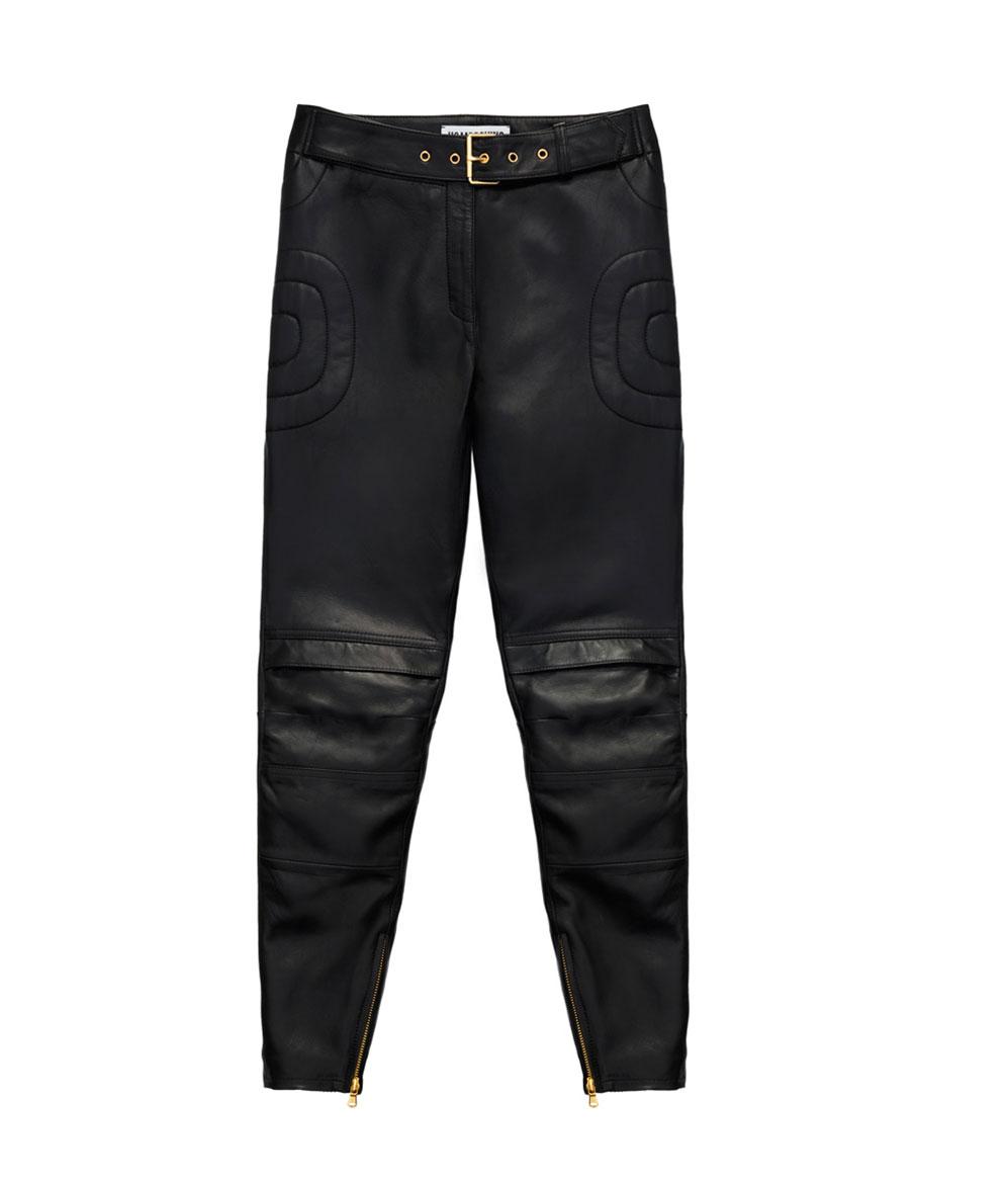 Svarta skinnbyxor från H&M x Moschino