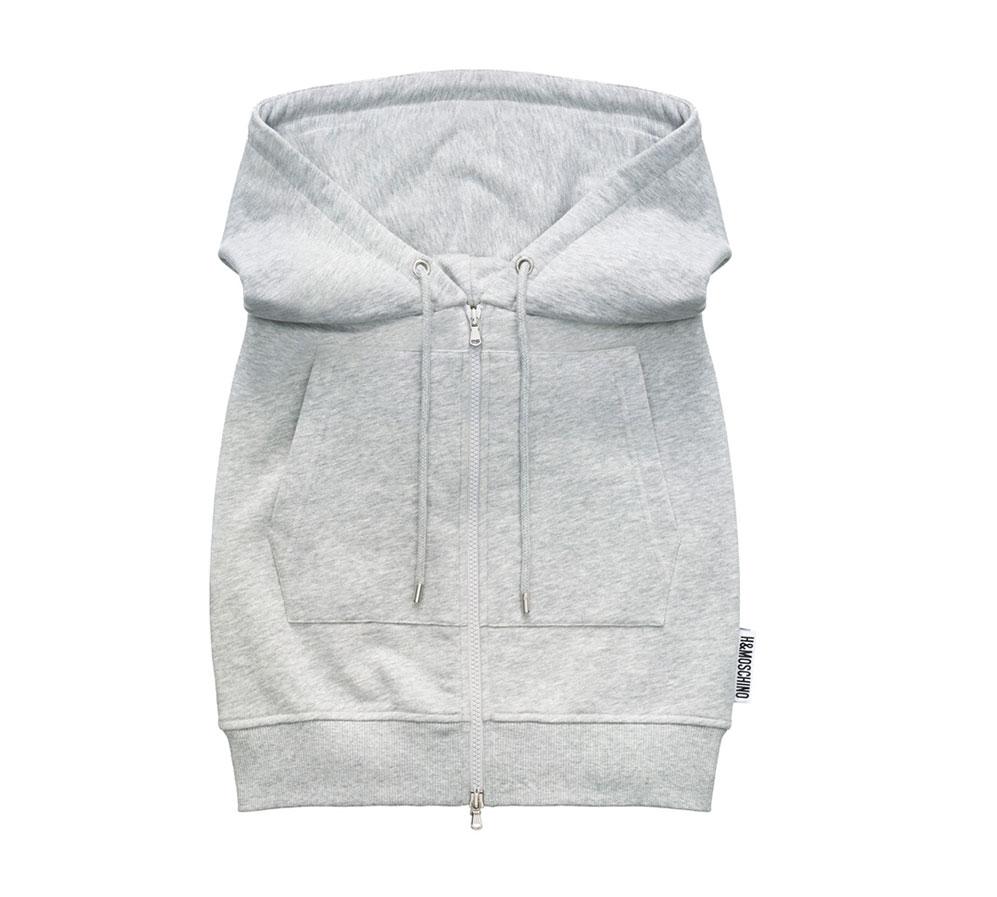 Grå kort kjol från H&M x Moschino