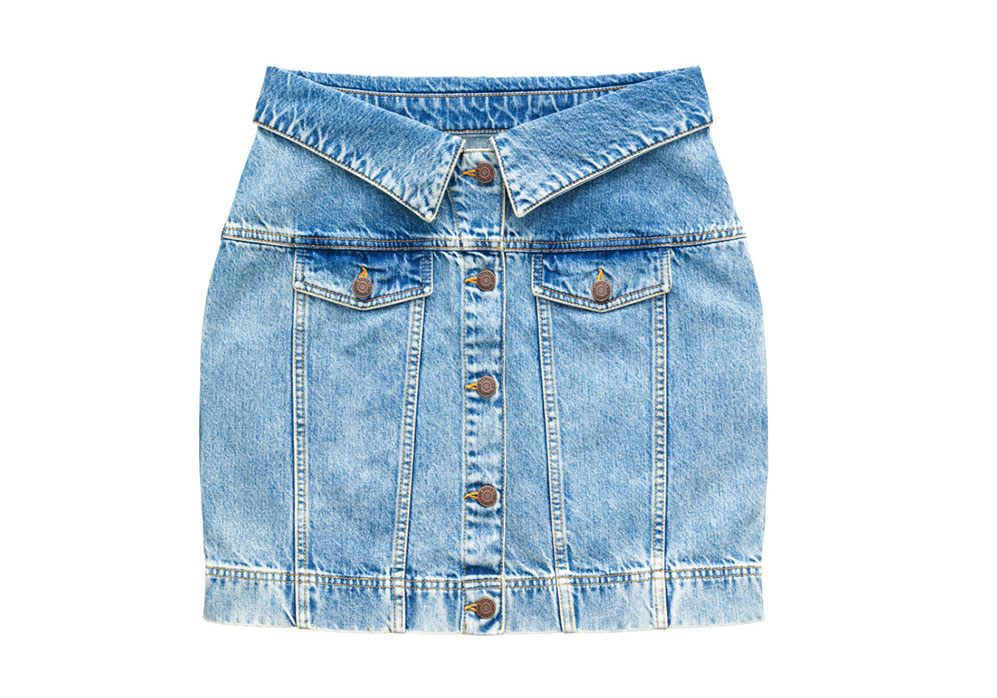 Kort jeanskjol från H&M x Moschino