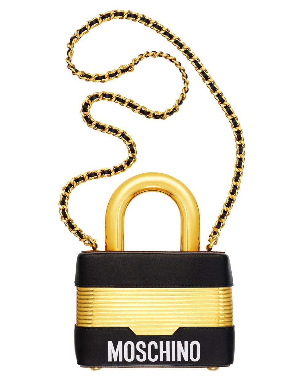 Väska formad som hänglås från H&M x Moschino