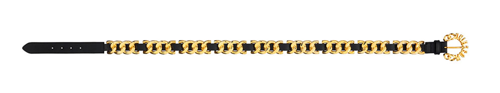 Svart skärp med guldiga detaljer från H&M x Moschino
