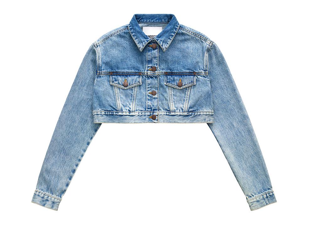 Kort jeansjacka H&M x Moschino