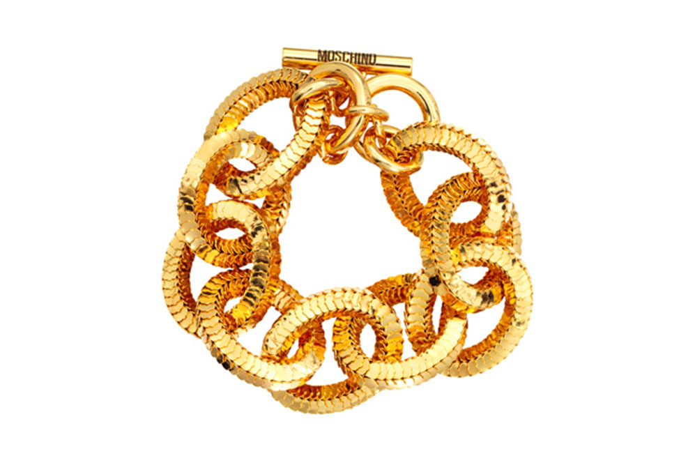 Smycke i guld från H&M x Moschino