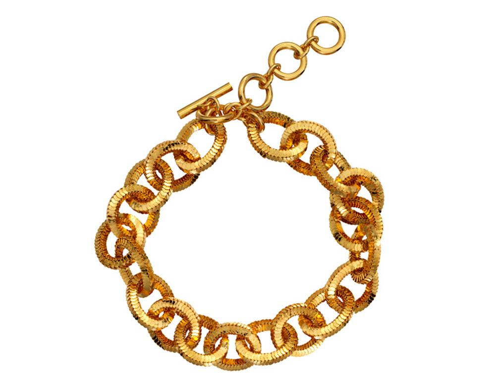 Halsband i guld från H&M x Moschino 2018