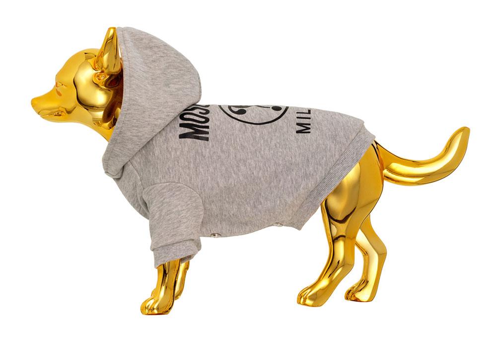 Grå hundtröja H&M x Moschino