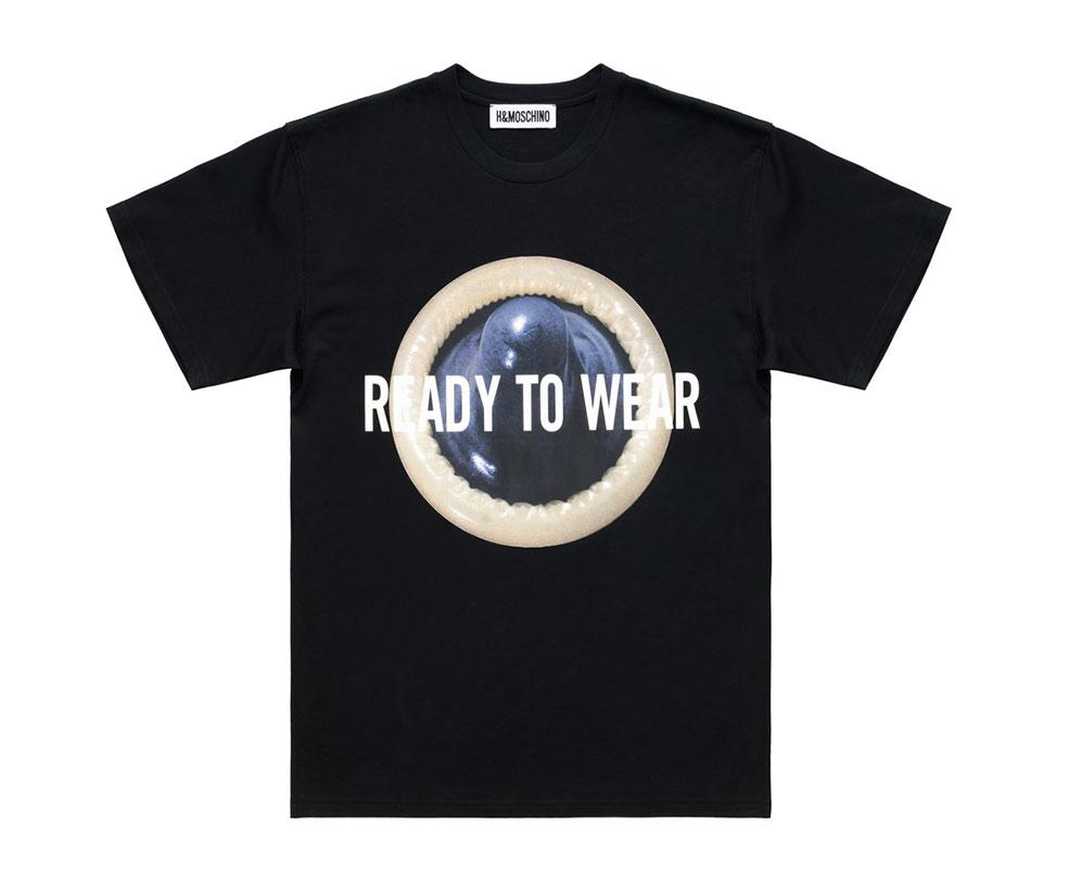 Svart t-shirt med motiv H&M x Moschino