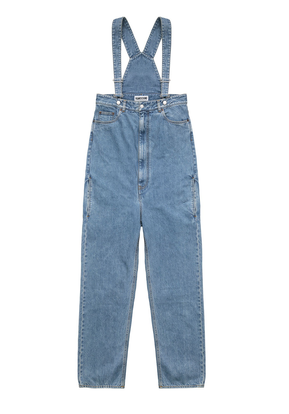 Hängselbyxor i jeanstyg Moschino x H&M