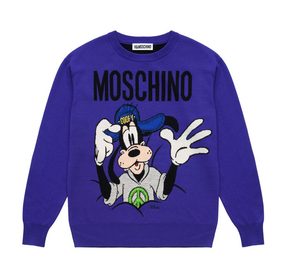 Lila sweatshirt med motiv på framsidan Moschino x H&M
