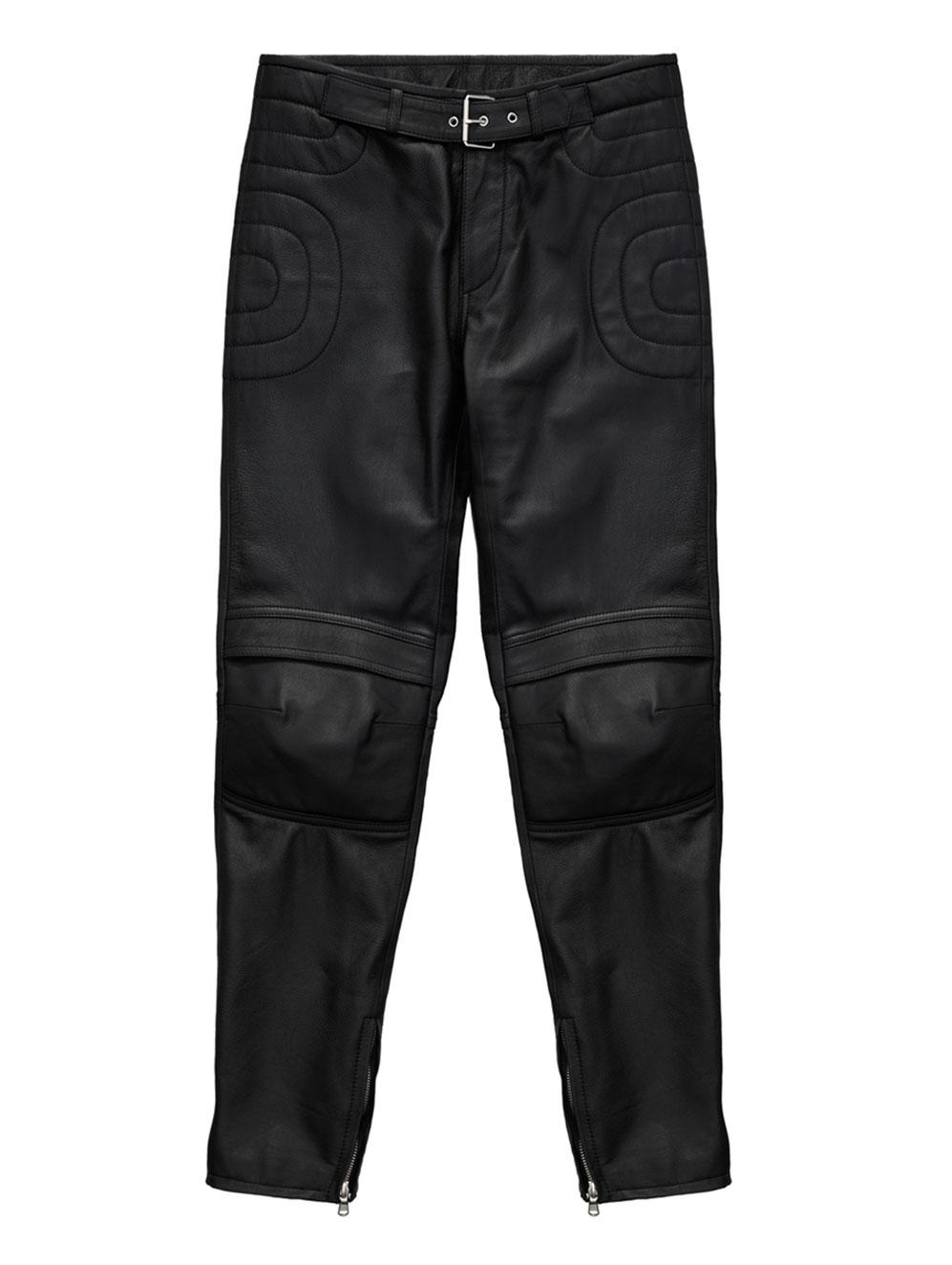 Svarta skinnbyxor Moschino x H&M