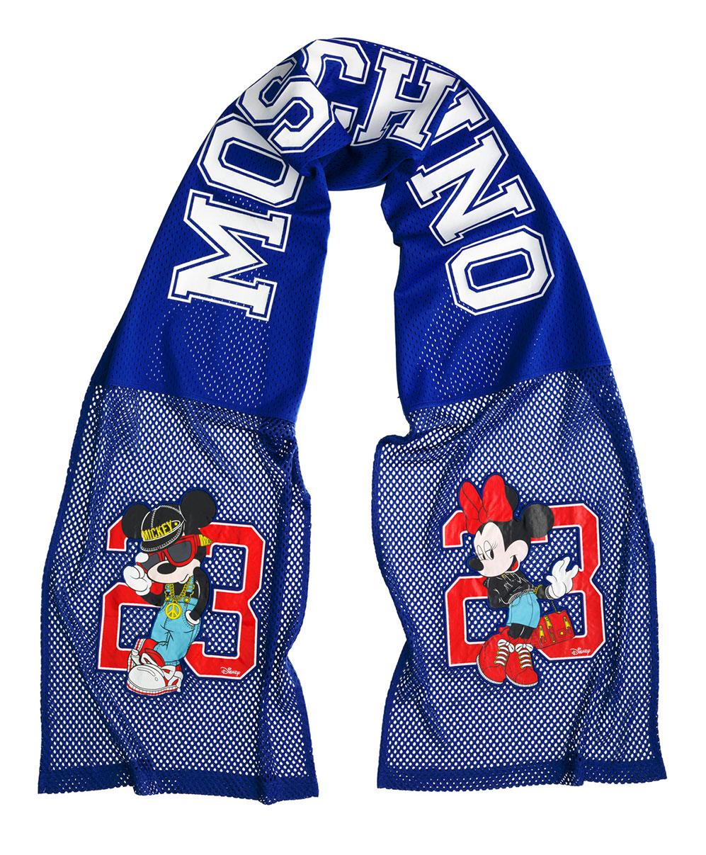 Blå halsduk med Mimmi och Musse Pigg Moschino x H&M