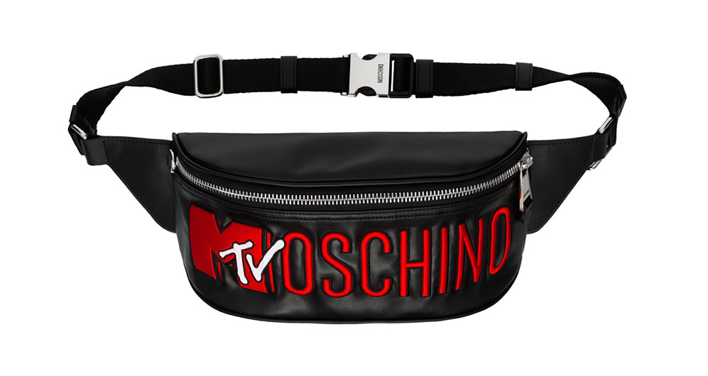 Svart midjeväska med röd text Moschino x H&M