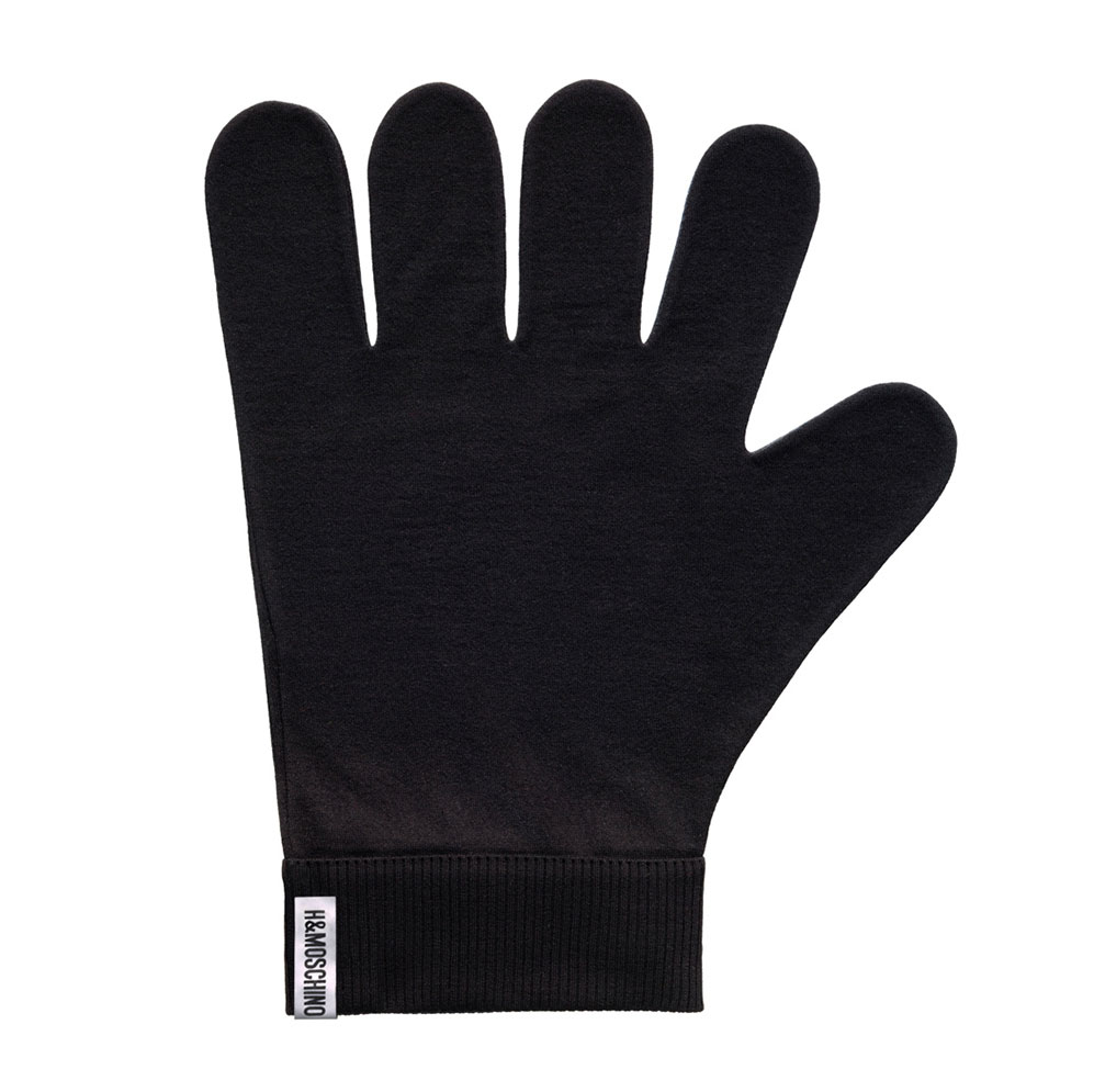 Svarta fingervantar Moschino x H&M