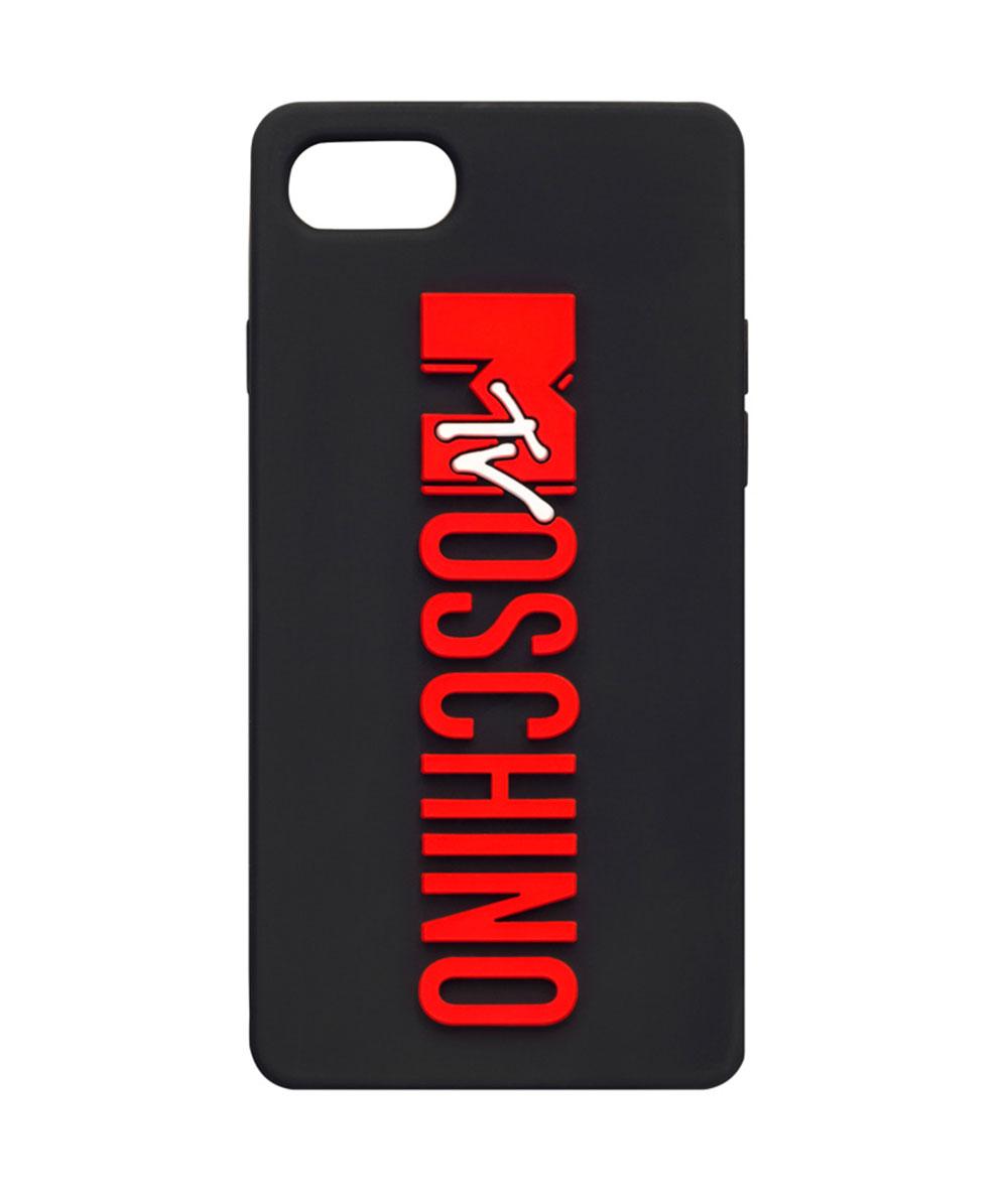 Svart mobilskal med röd logo Moschino x H&M