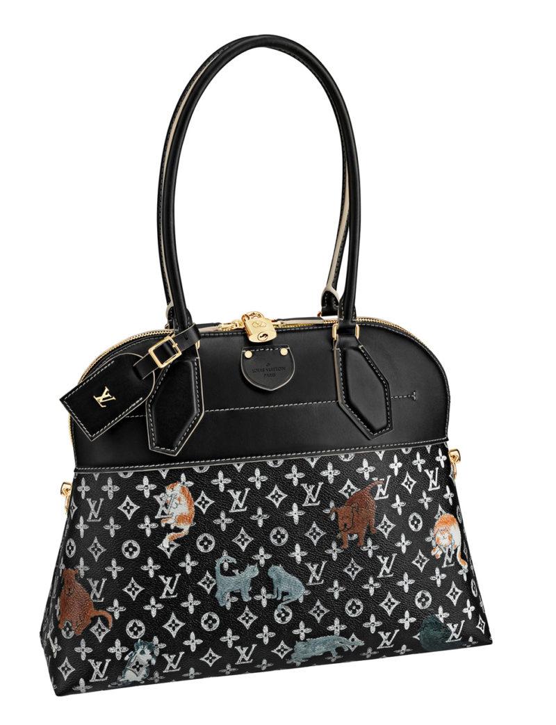 Louis Vuitton x Grace Coddington black bag