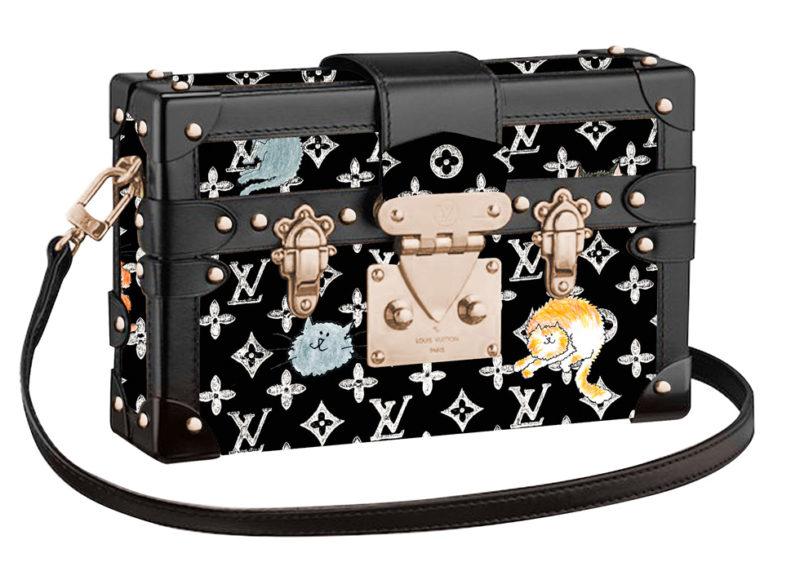 Louis Vuitton x Grace Coddington balck petite malle