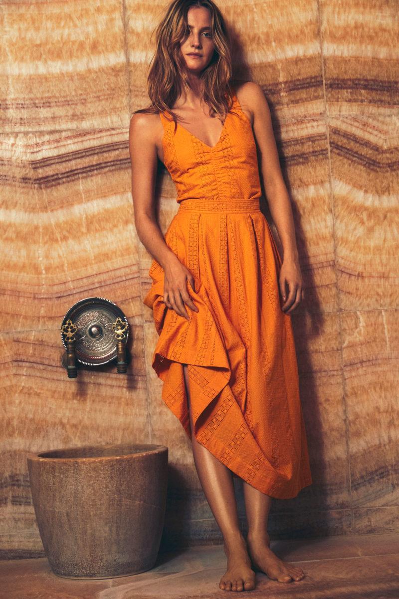 Orange klänning från Rodebjer