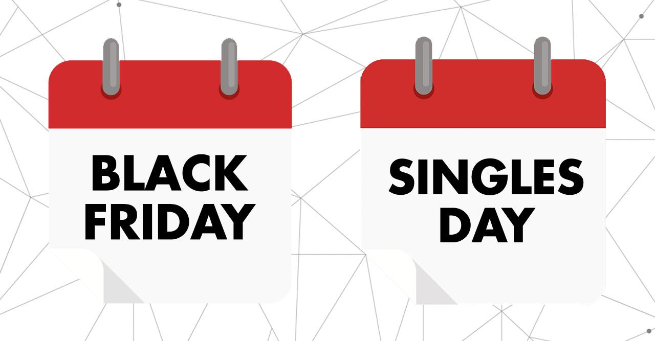 Det betyder singles day och black friday.