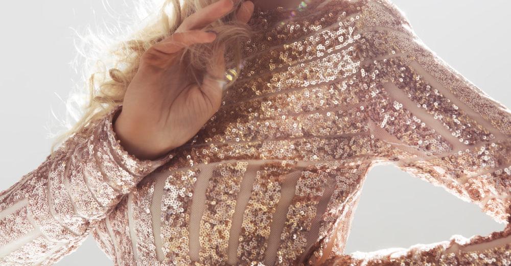 Glitterklänning till 2019