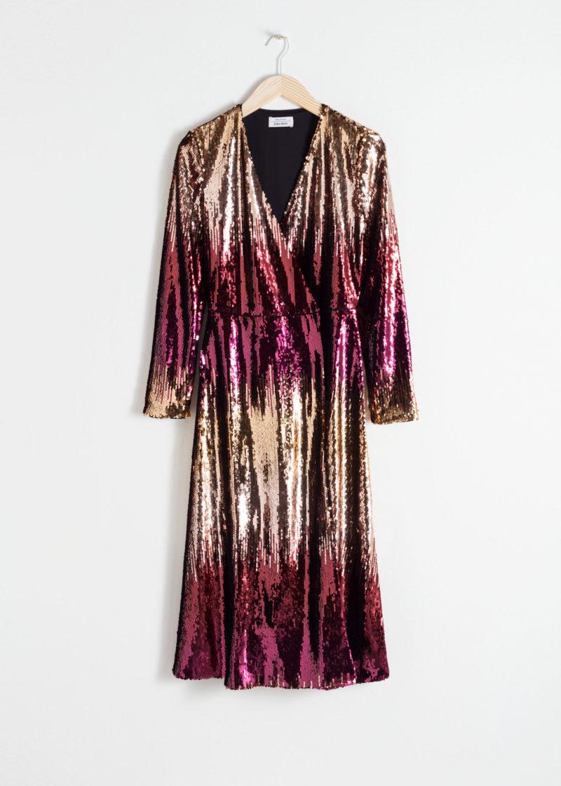 Klänning med ombre färg