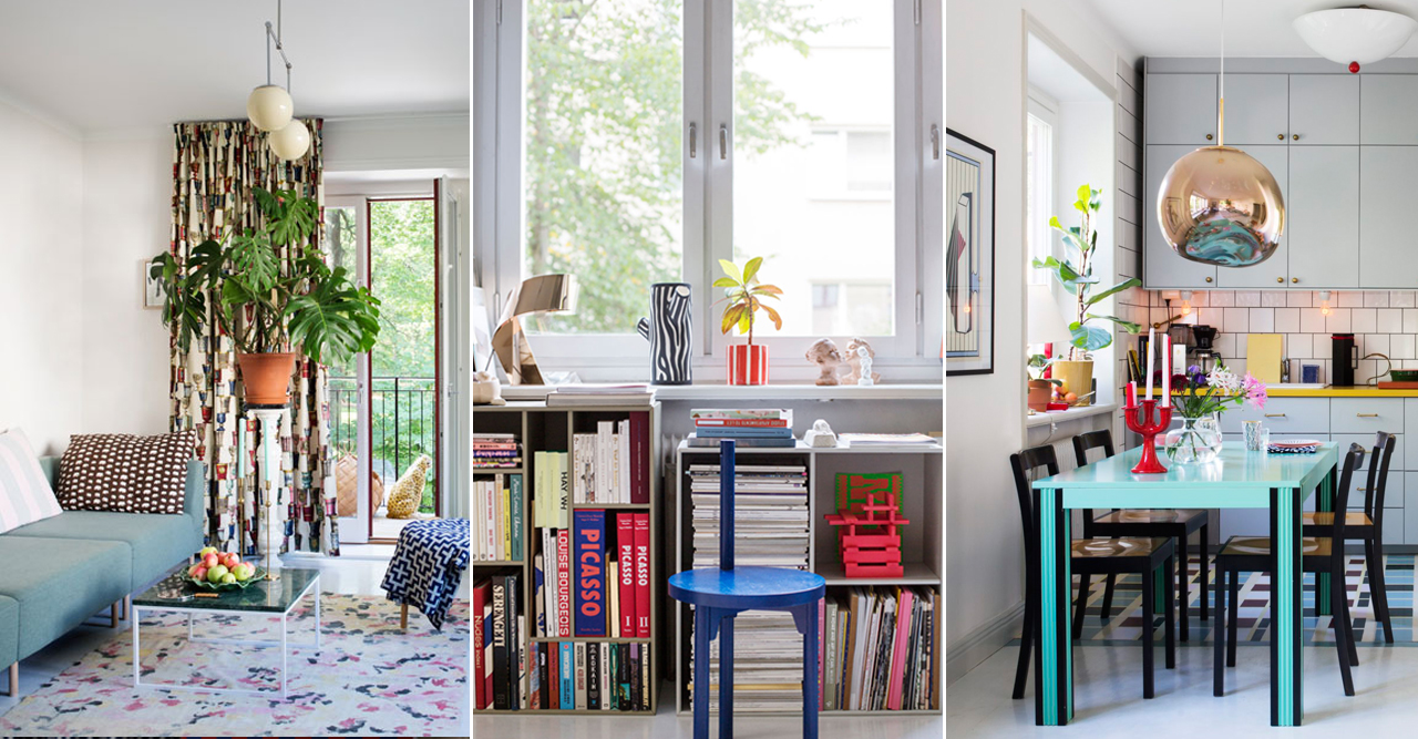 Unikt och färgstarkt hemma hos konstnären Evelina Kroon