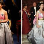 Här bär kronprinsessan drottning Silvias Nobelklänning från