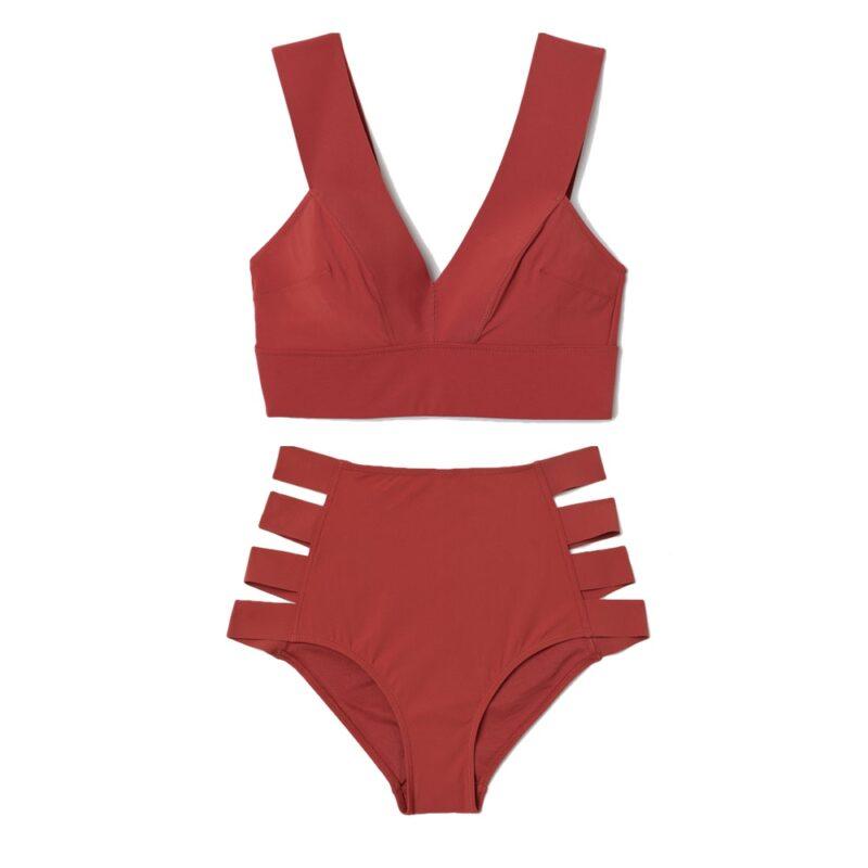929260d9 Roströd bikini med breda band och hög midja från H&M. Här kan du köpa  överdelen (reklamlänk via Adtraction) och här kan du köpa underdelen  (reklamlänk via ...