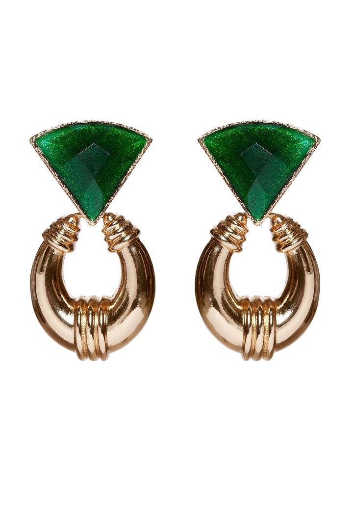 stora gröna örhängen