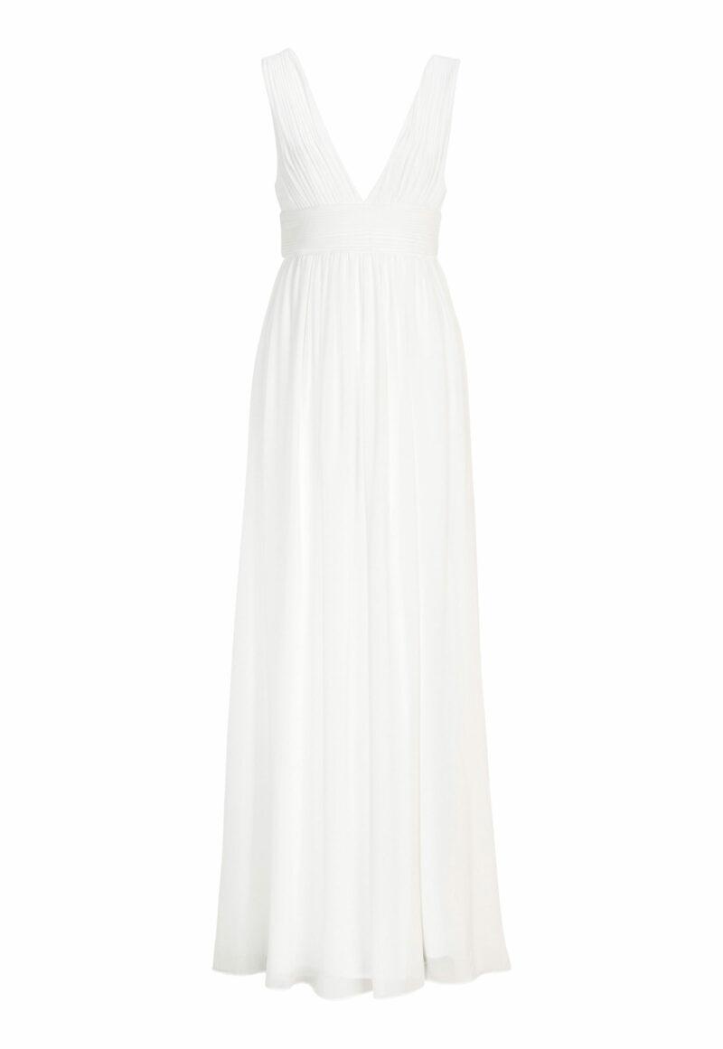 enkel vit långklänning