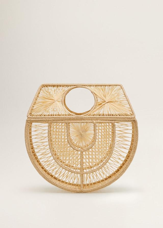 Handgjord rottingväska med vackert mönster från Mango