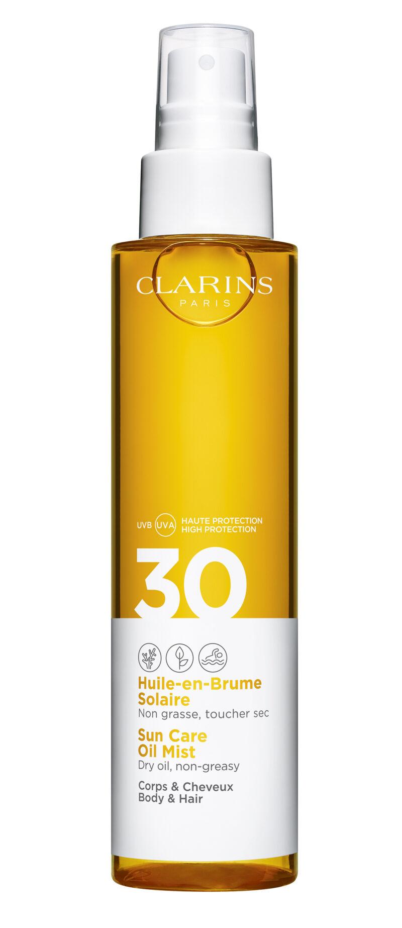 Clarins sun care oil mist spf 30.